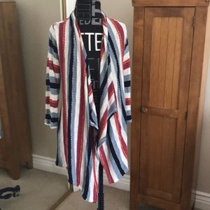 Splendid Red White and Blue striped cardigan